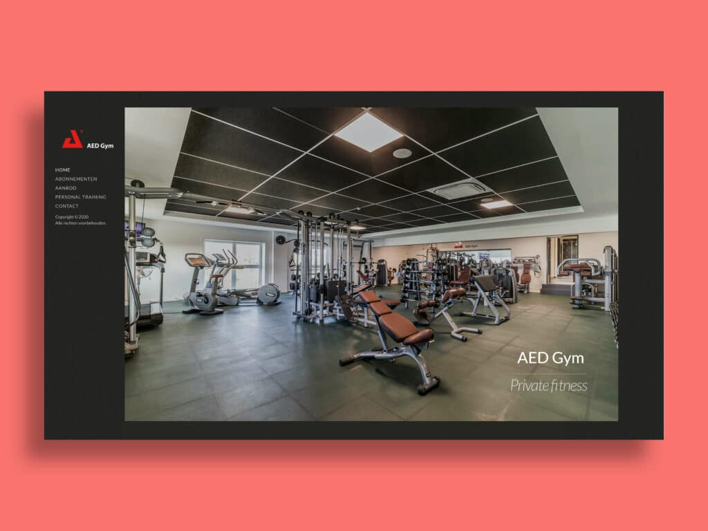 AED Gym - website