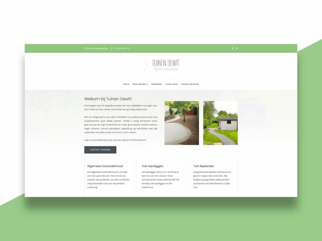Tuinen Dewit website