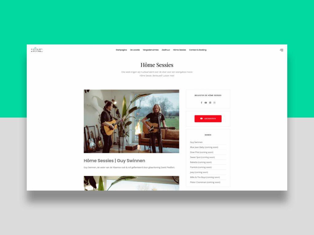 House of Meetings - website